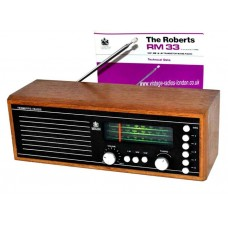 1980's ROBERTS RM33 TABLE TOP PRESET RADIO -31.12.2018 SOLD